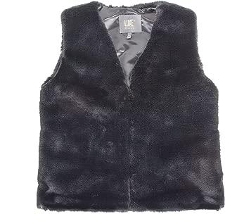 Luxe L 100% Faux Rabbit Fur Vest Soft Comfortable Plush Modern Fur Vest with Hook-Eye Closure