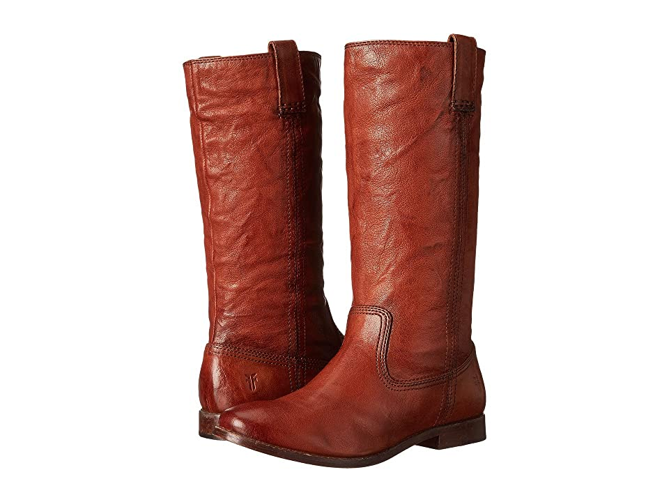 Frye Anna Mid Pull On (Cognac Antique Soft Vintage) Cowboy Boots