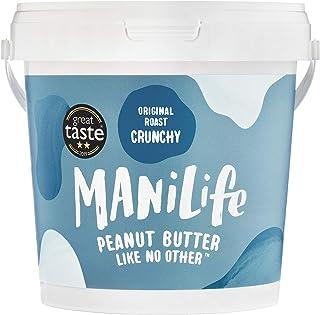 ManiLife Beurre de Cacahuète - Peanut Butter - Entièrement Naturel, d'Origine Unique, sans Sucre Ajouté, sans Huile de Pal...