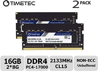 Timetec Hynix IC 16GB KIT(2x8GB) DDR4 2133MHz PC4-17000 Unbuffered Non-ECC 1.2V CL15 1Rx8 Single Rank 260 Pin SODIMM Laptop Notebook Computer Memory RAM Module Upgrade (16GB KIT(2x8GB))