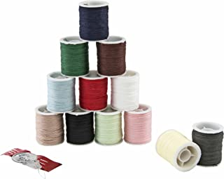 SINGER 60648 Mercerized Cotton Hand Sewing Thread, Assorted Colors, 12 Small Spools