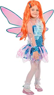 b644dc073f44 Ciao- Bloom Tynix Costume trasformazione Winx Club Bambina, 7-9 Anni, Blu