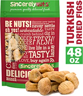 Sincerely Nuts Dried Turkish Figs (3 LB) - Enjoy for Breakfast, Lunch, and Dinner - Nutritious and Delicious On-the-Go Snack-High in Vitamins and Minerals- Vegan, Kosher, and Gluten-Free Food