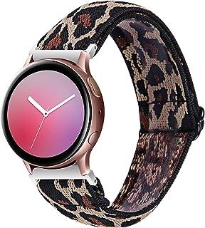 Chofit Band Compatibel met Garmin Venu Sq/Amazfit Bip U Pro/Amazfit GTS 2e/Samsung Galaxy Watch 3 41mm bandjes, geweven ny...