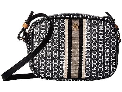 Tory Burch Gemini Link Canvas Mini Bag (Black Gemini Link) Handbags