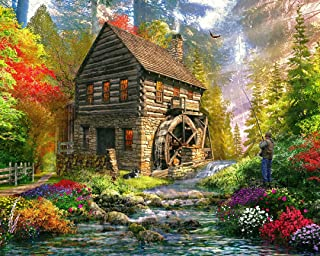 Vermont Christmas Company Mill Cottage Jigsaw Puzzle 1000 Puzzle