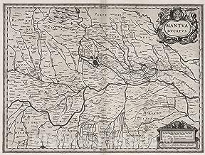 Historic Pictoric Map : Mantua (Italy) 1630 Mantua Ducatus, Antique Vintage Reproduction : 44in x 34in