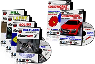 Solidworks 2014-2015 And Mastercam X1-X7 Mill, Lathe, Solids, & Multi-axis Video Tutorial Training Bundle in HD