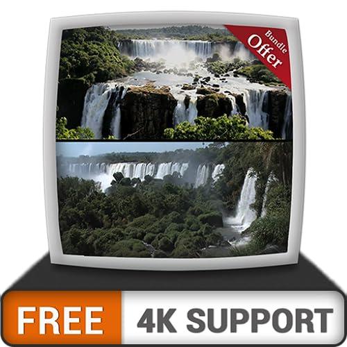 kostenloser Wasserfall live HD - genießen Sie die wunderschöne Landschaft auf Ihrem HDR 4K-Fernseher, 8K-Fernseher und Feuergeräten als Hintergrundbild, Dekoration für die Weihnachtsferien, Thema für