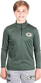 Ultra Game NFL Teen-Boys Quarter-Zip Active Pullover Shirt