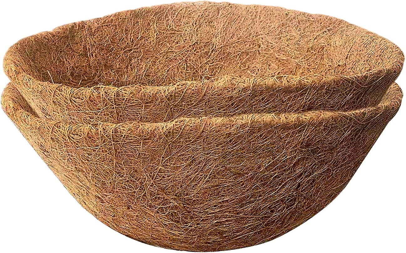 Micgeek 2PCS Kansas City Mall Round Coco Liners for Hanging OFFicial site Basket Coconut 14 in