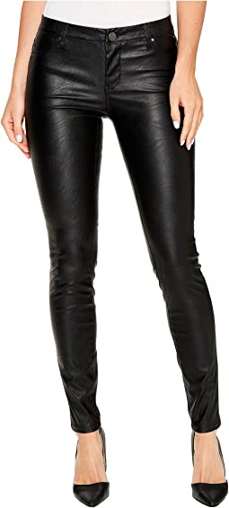The Spray On Vegan Leather Skinny in Blacked Out