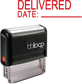 Delivered w/Date Line - Self-Inking Rubber Stamp by bbloop