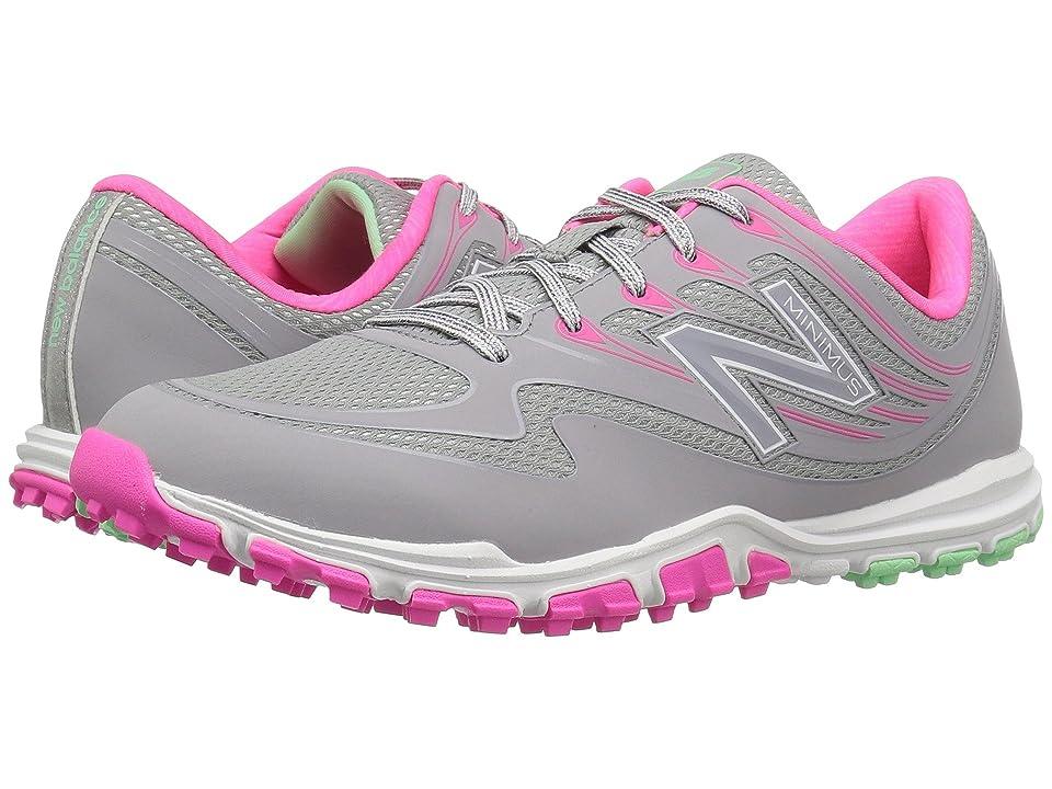 New Balance Golf NBGW1006 Minimus Sport (Grey/Pink) Women's Golf Shoes