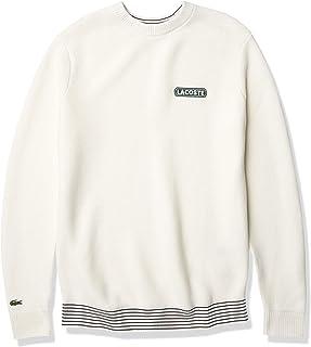 Men's Long Sleeve Striped Rib Crewneck Sweater