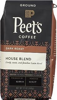 Peet's Coffee House Blend Medium Roast Ground Coffee House Blend, 12 Ounce Bag