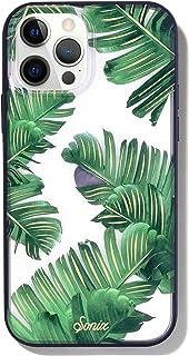 Sonix Bahamas - Funda para teléfono (tamaño grande), diseño de hojas de palma transparente