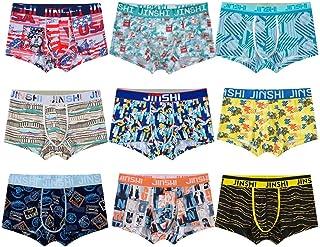 Jinshi Bamboo Mens Underwear, Mens Boxer Briefs Fashion Random