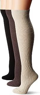 Women's 3 Pair Pack Diamond Knee High Socks