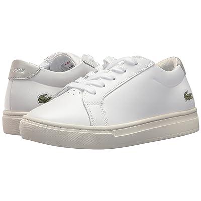 Lacoste Kids L.12.12 (Little Kid) (White/Silver) Kids Shoes
