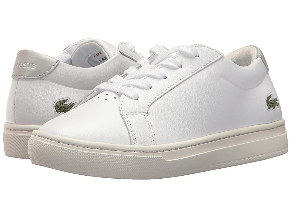 Lacoste Kids L.12.12 (Little Kid) (White/Silver) Kids Shoes