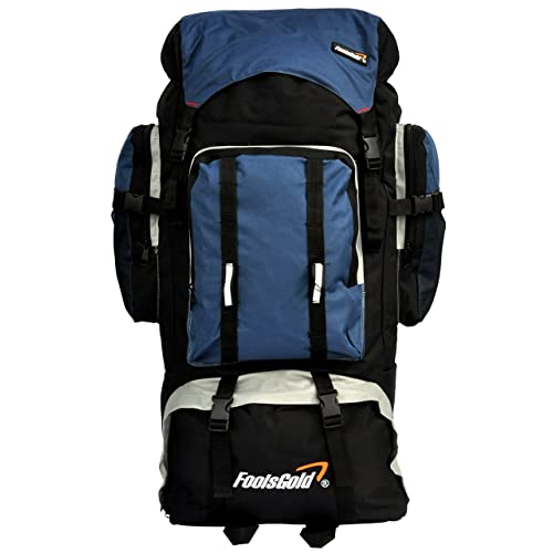 foolsGold Extra Large Hiking Travel Backpack Camping Rucksack Top and  Bottom Loading caab109151374