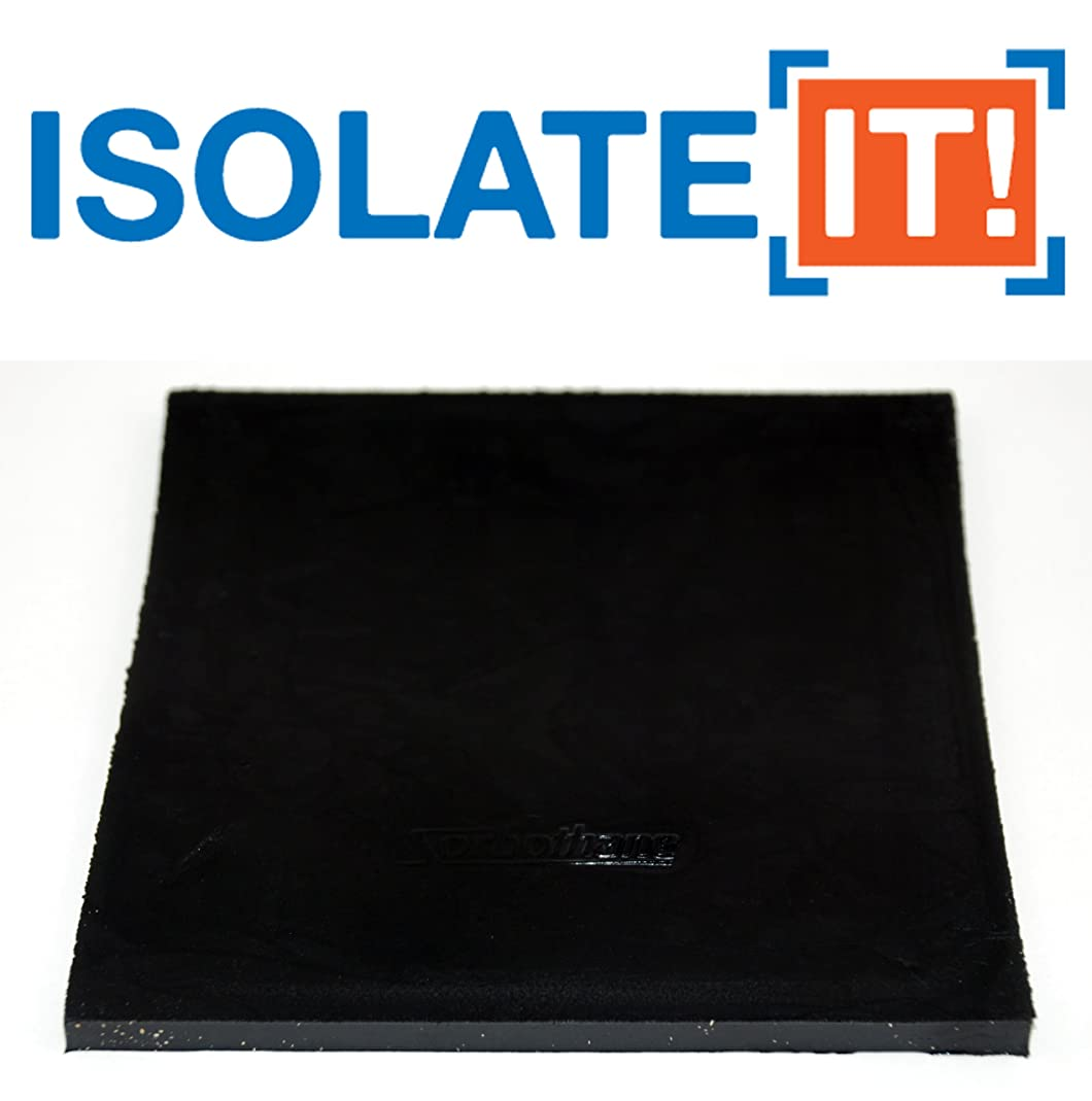 Isolate It!: Sorbothane Vibration Isolation Square Pad 0.25
