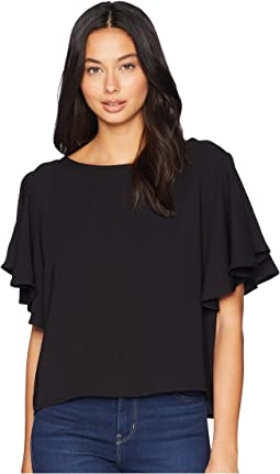 Crucial Taunt Textured Rayon Top