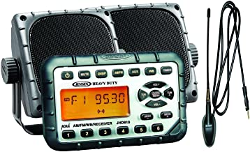 Jensen JHD910PKG Package - Includes JHD910 Waterproof Mini AM/FM/WB/Stereo, Pair of 3.5