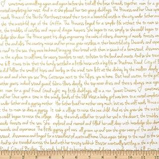 Michael Miller Brambleberry Ridge Metallic Memoir Gold Fabric by The Yard