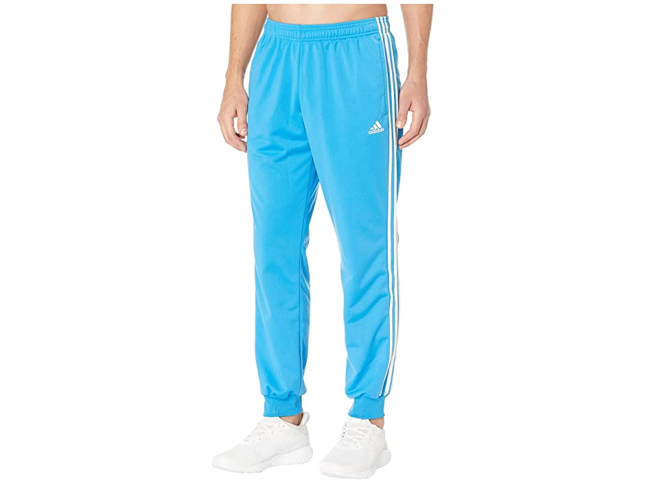 adidas Essentials 3S Tapered Tricot Pants (Bright Blue/White) Men