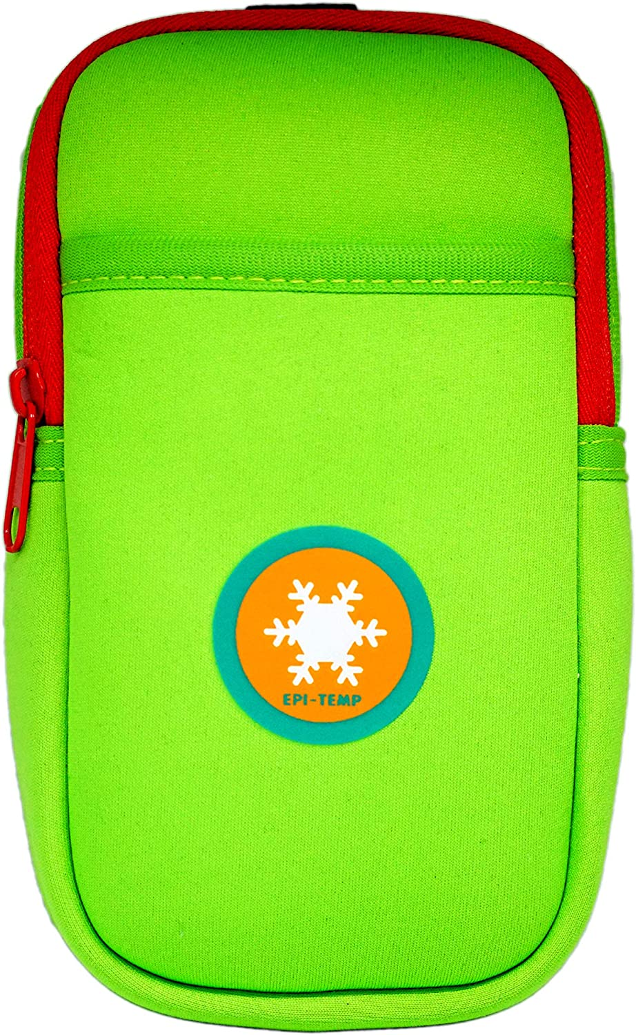 EPI-TEMP Epipen Insulated Case for Kids, Adults – Smart Carrying Pouch, Storage Bag, Powered by PureTemp Phase Change Material to Keep Epinephrine in Safe Temperature Range (Green)