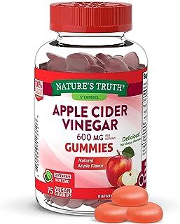 Nature's Truth Apple Cider Vinegar 600mg Vegan Gummies, 75 Count