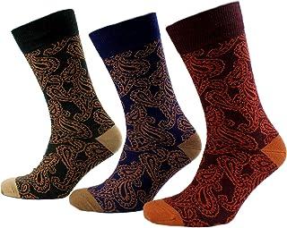 Viyella 3 Pair Pack Mens Paisley Design Wool Socks