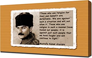 Mustafa Kemal Ataturk Quotes 3 - Canvas Art Print