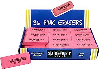 Sargent Art Large Erasers, 36 per Pack, Light Pink, Pink, Count