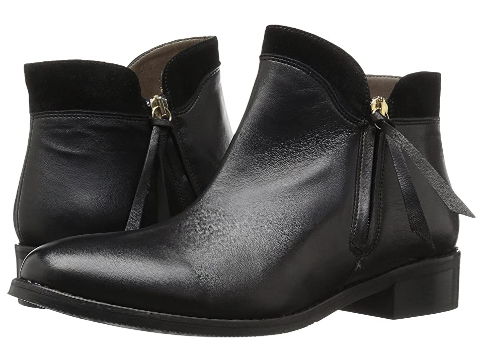 Bella-Vita Dot-Italy (Black Italian Leather/Suede) Women