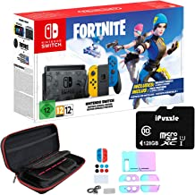 """Newest Nintendo Switch Fort nite Wildcat with Yellow and Blue Joy-Con - 6.2"""" Touchscreen LCD Display, 32GB Internal Storag..."""