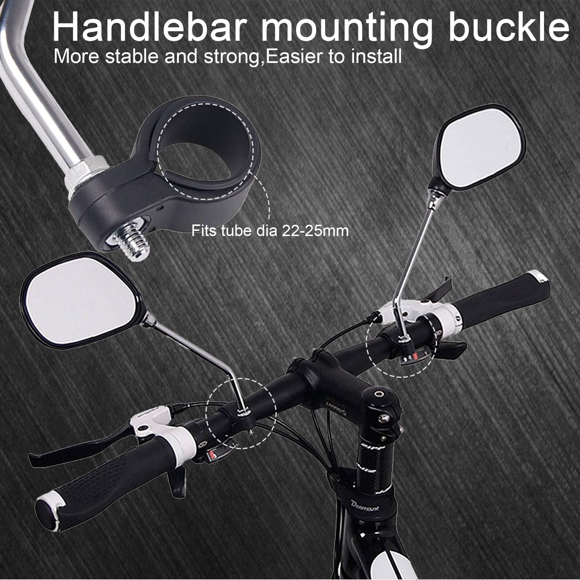 360° Adjustable Bike Handlebar Rearview Motorcycle Looking Glass Bicycle Mirror❤