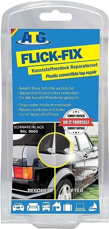 Atg Cfr02 Flick Fix Kunststoff Verdeck Teichfolien Pool Reparaturset Cabrioverdeck Und Planen Schwarz Auto