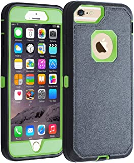 Co-Goldguard iPhone 7/8 case, [Heavy Duty] Armor 3 in 1 Rugged Cover with Front Frame Dust-Proof Shockproof Drop-Proof Scratch-Resistant Tough Shell for iPhone 7 iPhone 8 4.7(Black Green)