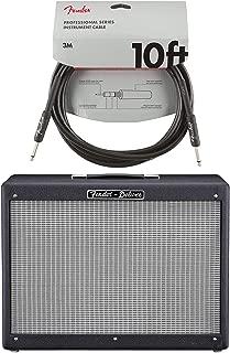Fender Hot Rod Deluxe 112 Enclosure Black & Silver w/Celestion G12P-80 Cable Bundle