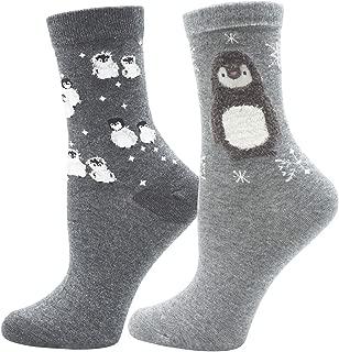 Lovful 2 Pairs Women's Animal Pattern Casual Cotton Socks