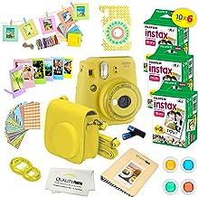 Fujifilm Instax Mini 9 Instant Camera w/Fujifilm Instax Mini 9 Instant Films (60 Pack) + A14 Pc Deluxe Bundle for Fujifilm...