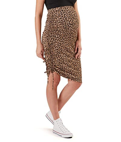 Stowaway Collection Maternity Over Under Maternity Skirt (Animal Print) Women