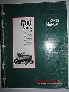 Deutz Allis 1700 Series 1716H & 1714G Lawn & Garden Tractor & Mowers Parts Catalog Book Manual Original 1991 TP-1189