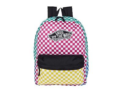 Vans Realm Backpack (Checker Block) Backpack Bags