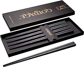 Goldage Fiberglass Dishwasher-safe Chopsticks - Japanese Minimalism - Herb Leaf (5 Pairs)
