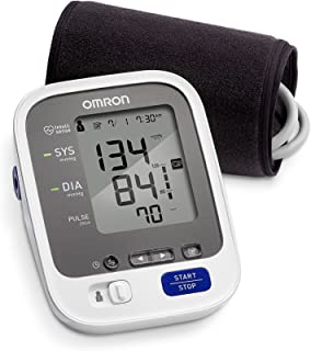 Omron 7 Series Wireless Upper Arm Blood Pressure Monitor; 2-User, 120-Reading Memory, BP Indicator LEDs, Bluetooth® Works with Amazon Alexa by Omron