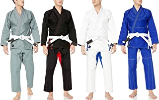 Athllete Jiu Jitsu GI Suitable for Jiu Jitsu/BJJ/Jiujitsu/Judo/Brazilian BJJ, with Preshrunk Fabric for Men & Kids